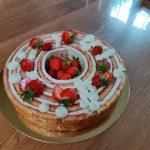 Roller-cake à la fraise